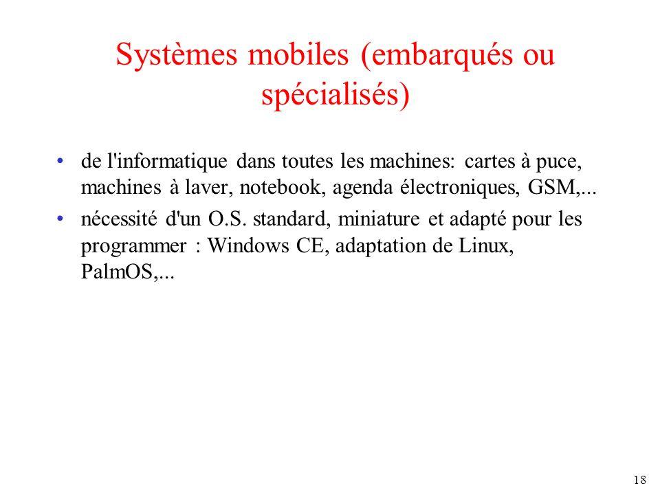 Systèmes mobiles (embarqués ou spécialisés)