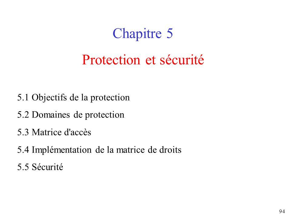 Protection et sécurité