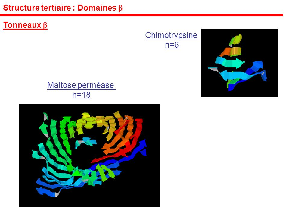 Structure tertiaire : Domaines 