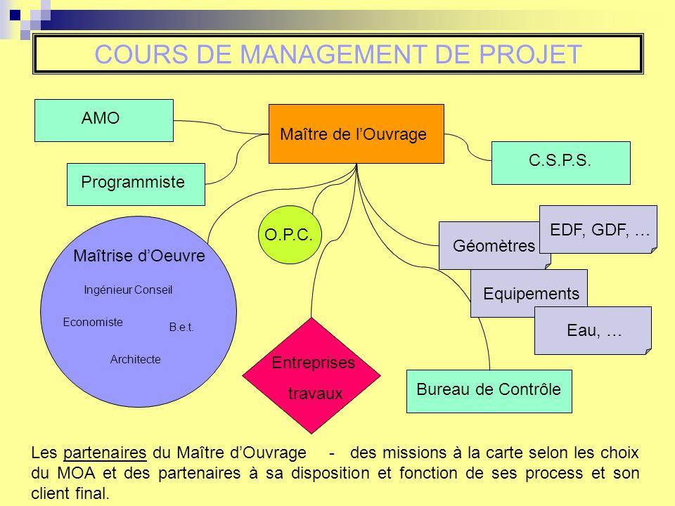COURS DE MANAGEMENT DE PROJET