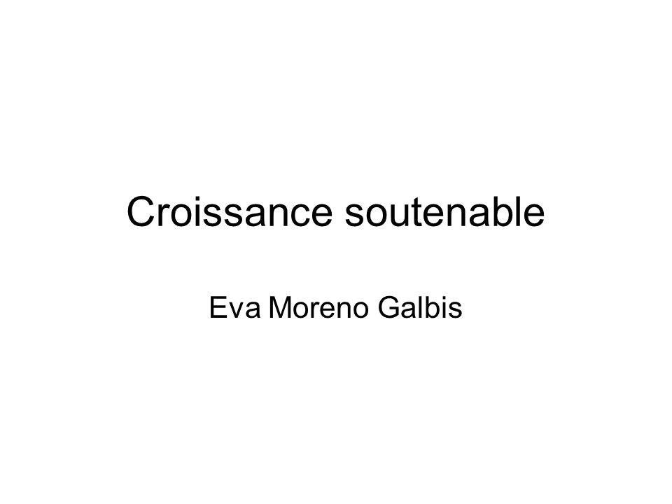 Croissance soutenable