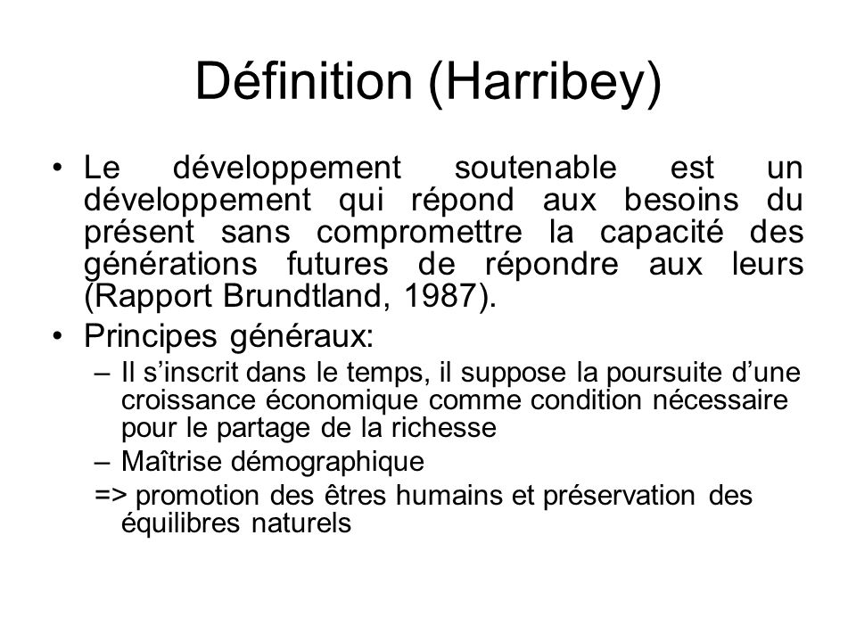 Définition (Harribey)