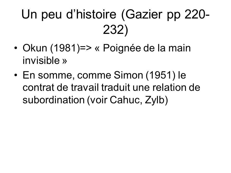 Un peu d'histoire (Gazier pp 220-232)