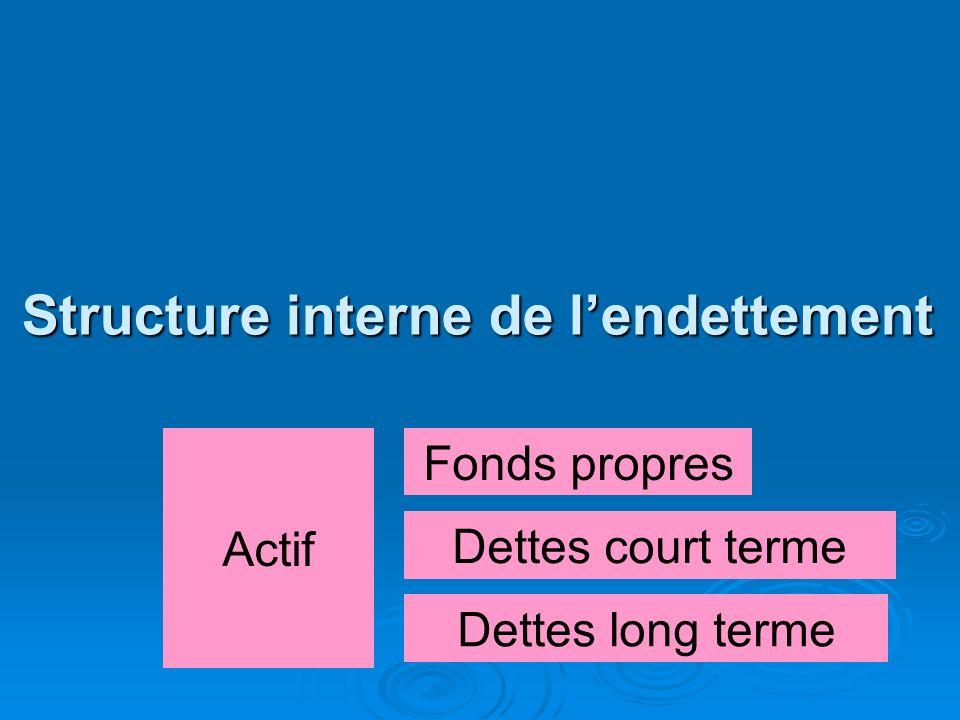 Structure interne de l'endettement