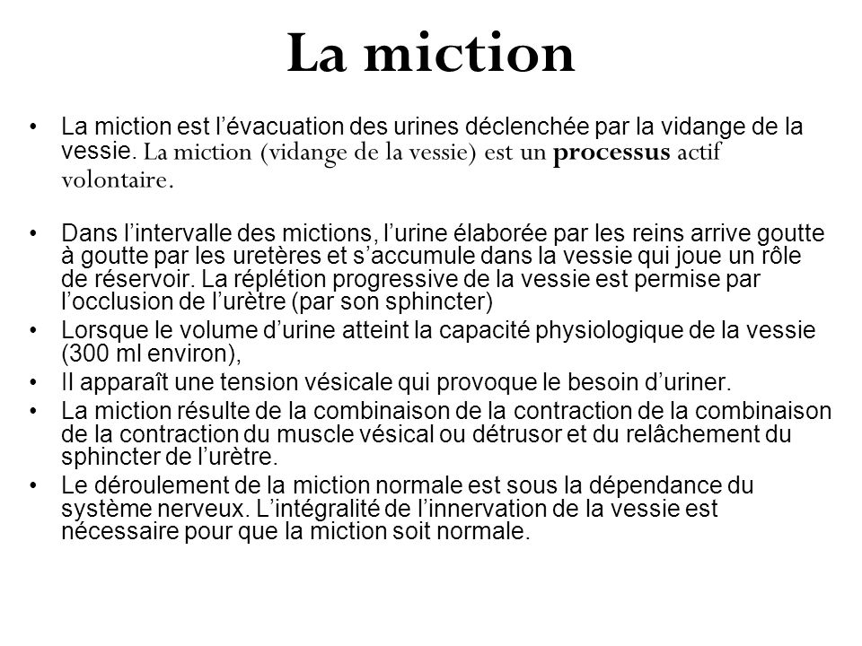 La miction