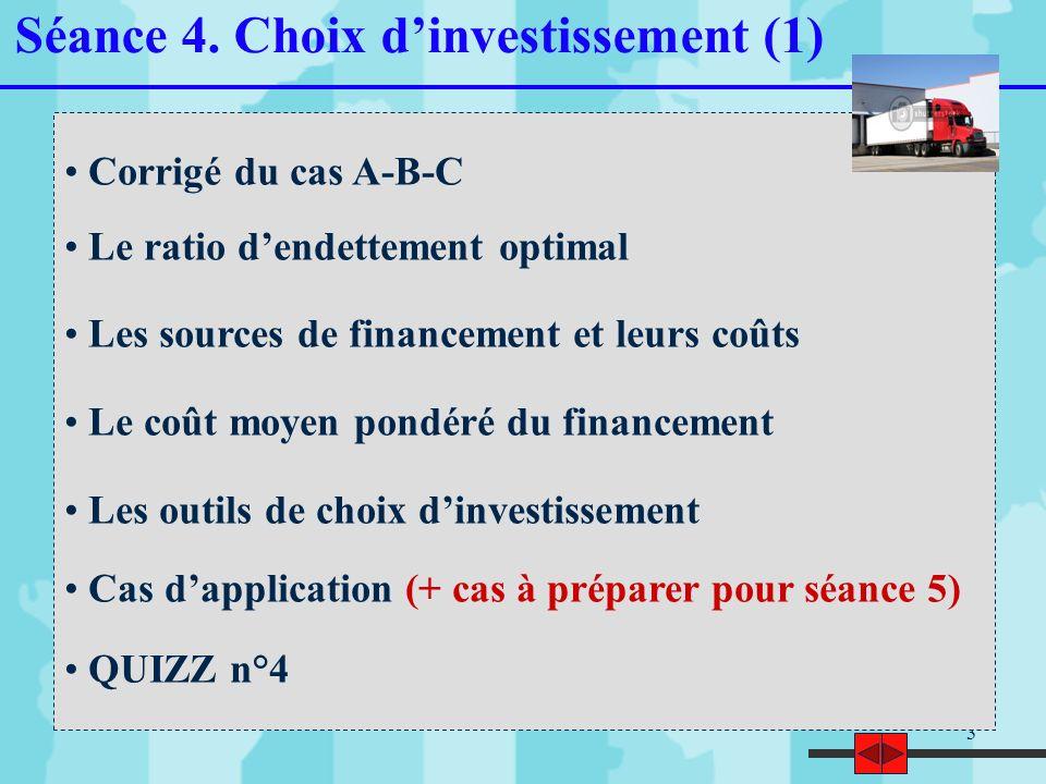 Séance 4. Choix d'investissement (1)