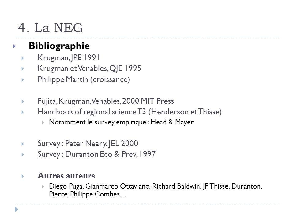 4. La NEG Bibliographie Krugman, JPE 1991