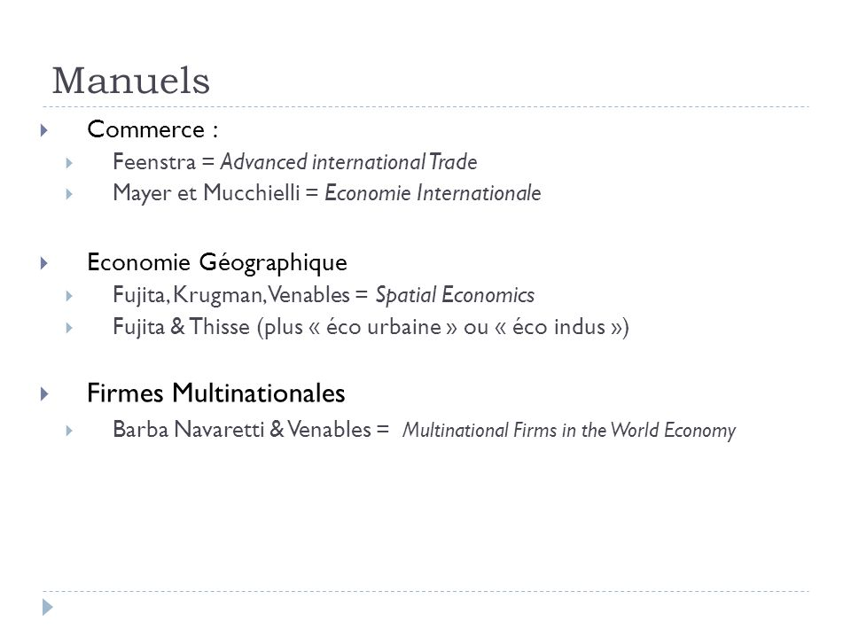 Manuels Firmes Multinationales Commerce : Economie Géographique