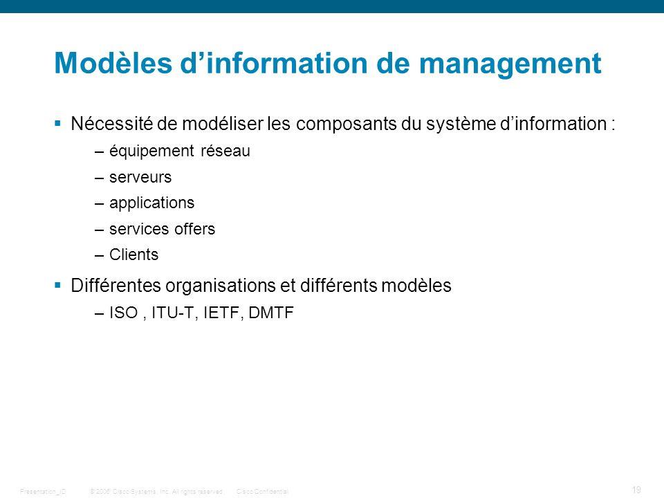Modèles d'information de management
