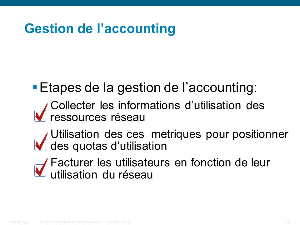 Gestion de l'accounting