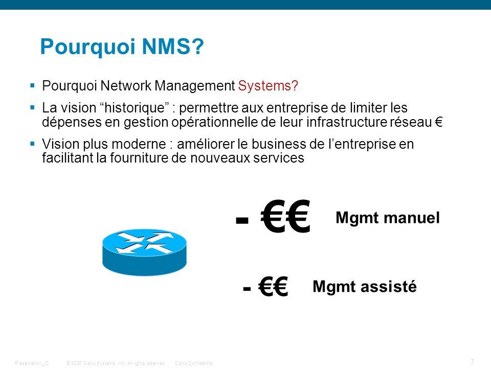 - €€ - €€ Pourquoi NMS Mgmt manuel Mgmt assisté