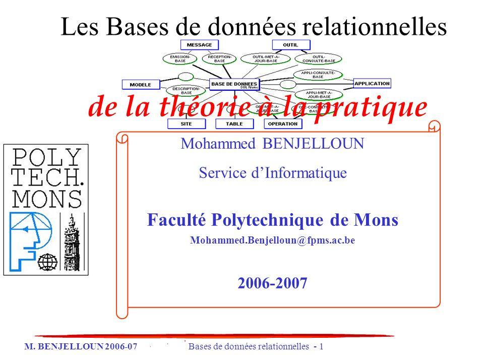 de la théorie à la pratique Faculté Polytechnique de Mons