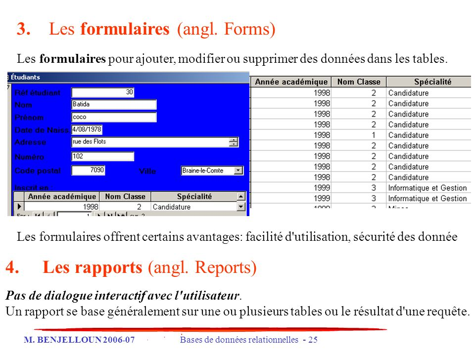 3. Les formulaires (angl. Forms)