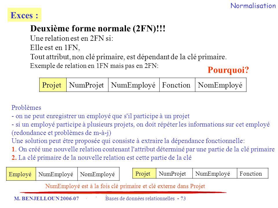 Deuxième forme normale (2FN)!!!