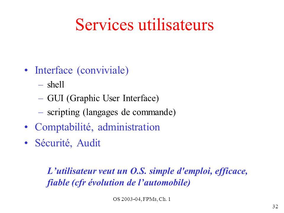 Services utilisateurs