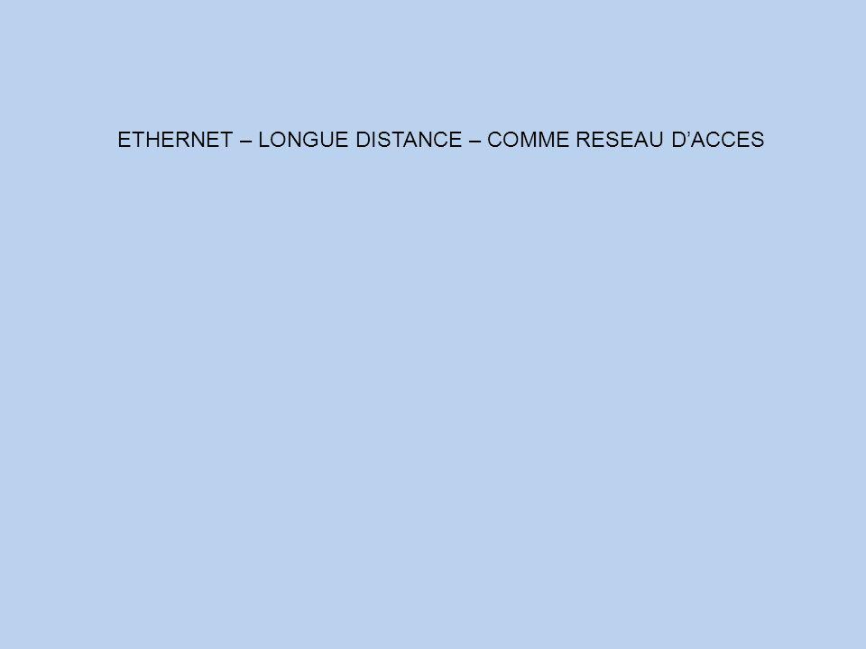 ETHERNET – LONGUE DISTANCE – COMME RESEAU D'ACCES