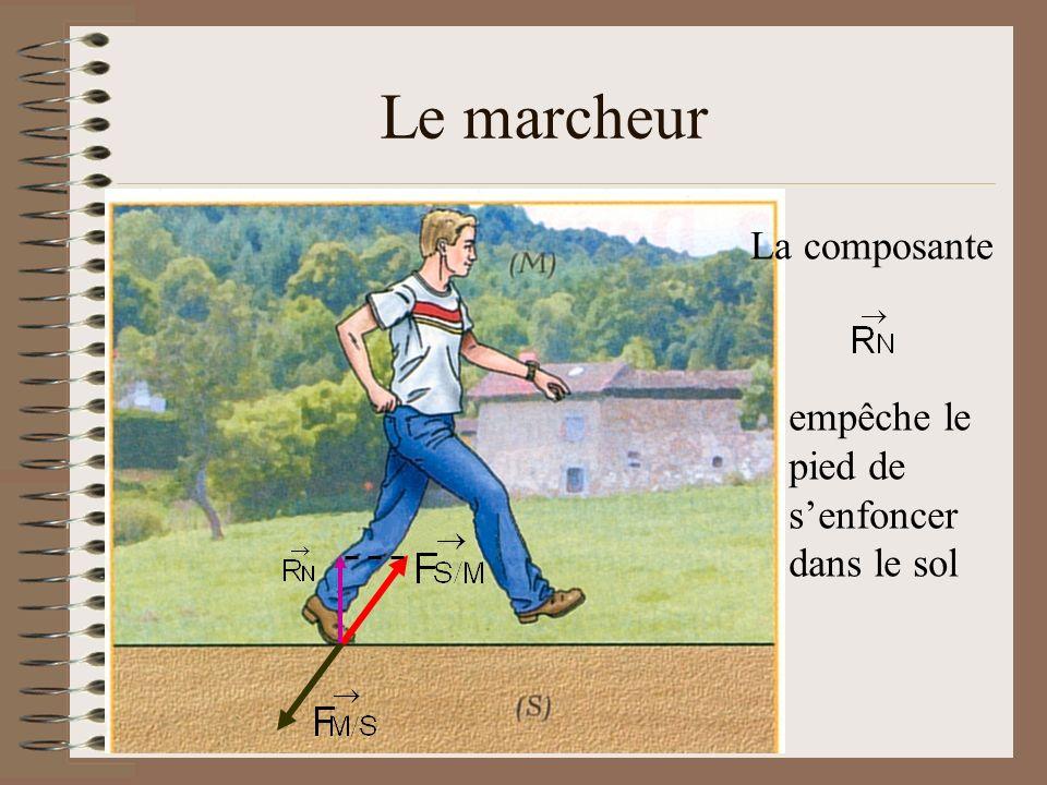 Le marcheur La composante empêche le pied de s'enfoncer dans le sol