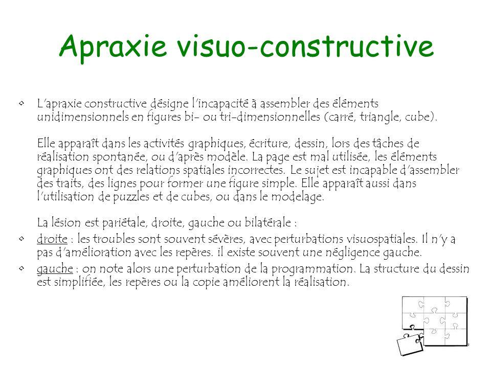 Apraxie visuo-constructive