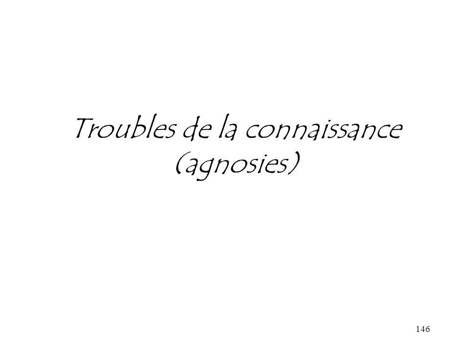 Troubles de la connaissance (agnosies)