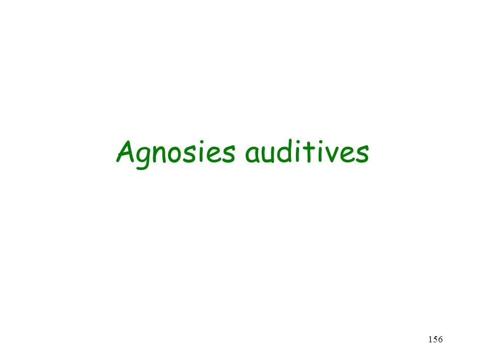 Agnosies auditives