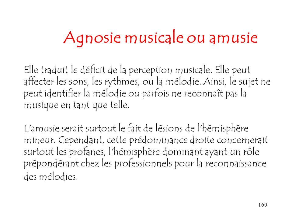 Agnosie musicale ou amusie