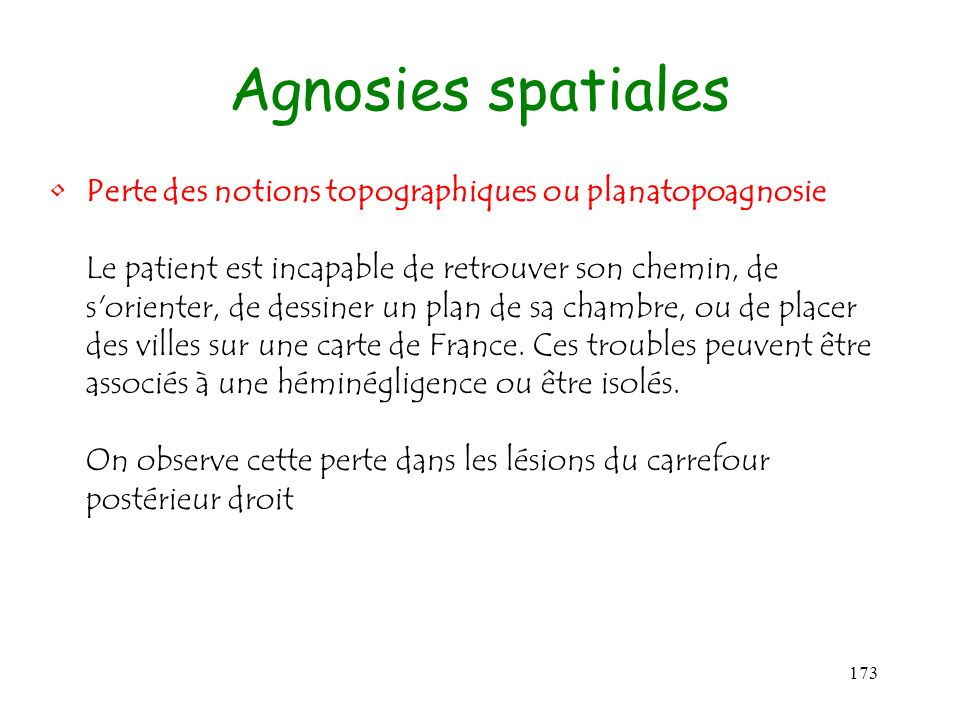 Agnosies spatiales