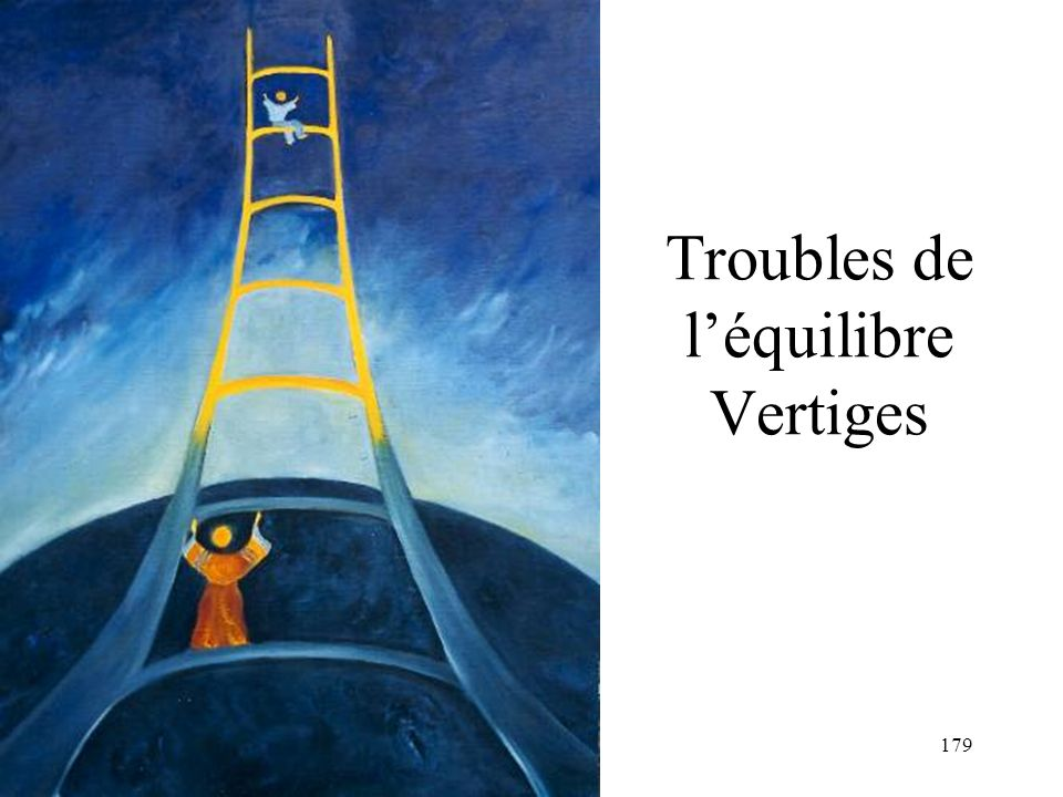 Troubles de l'équilibre Vertiges