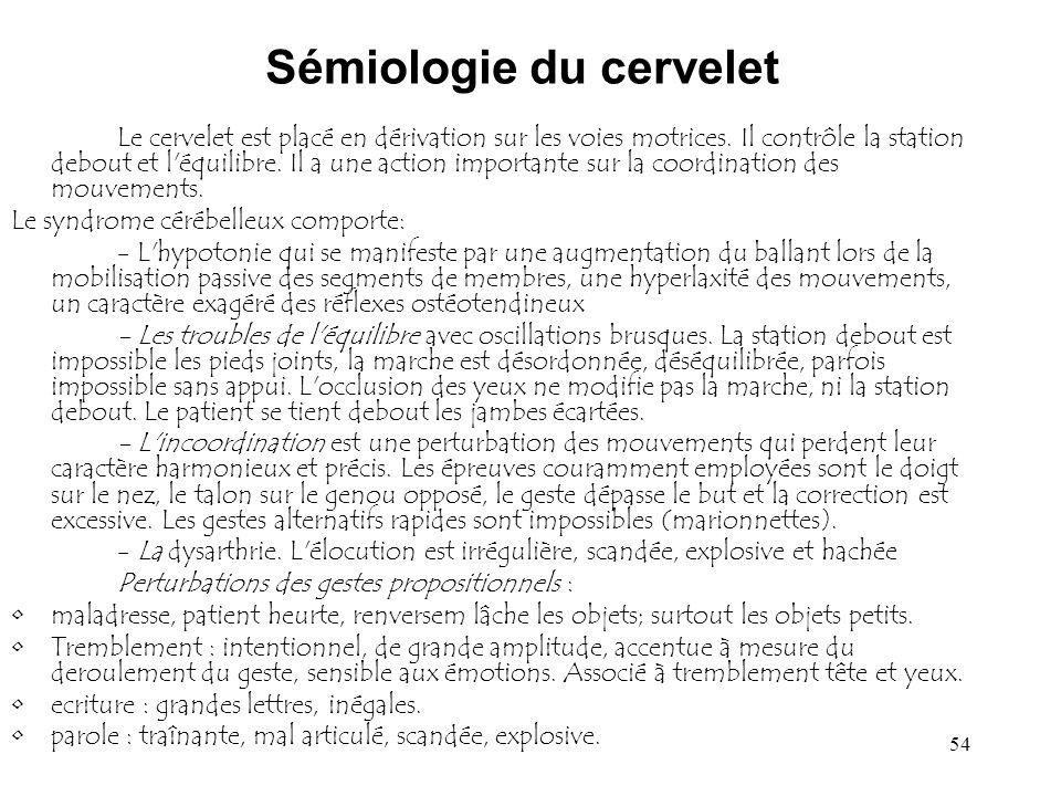 Sémiologie du cervelet