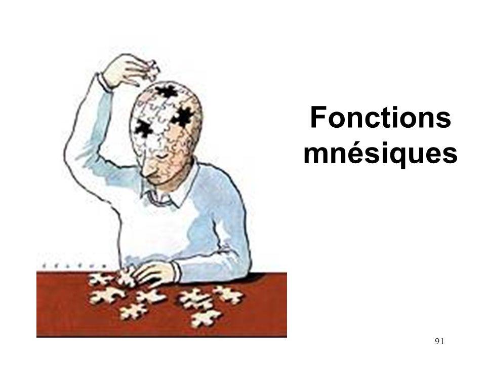 Fonctions mnésiques