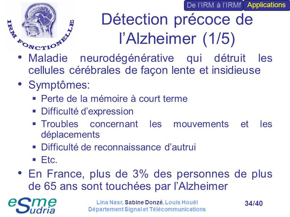 Détection précoce de l'Alzheimer (1/5)