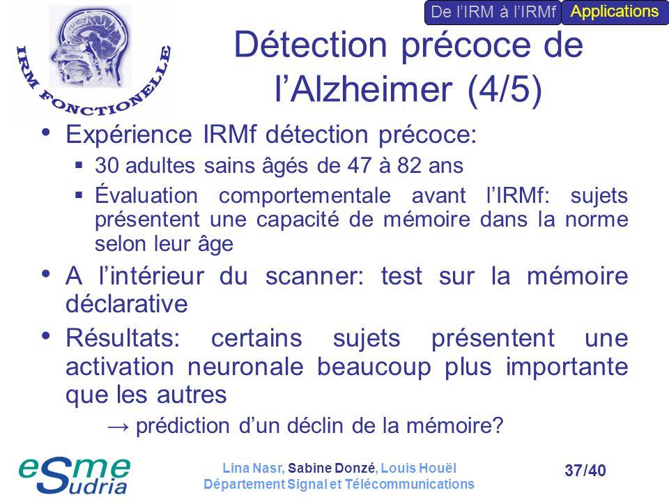 Détection précoce de l'Alzheimer (4/5)