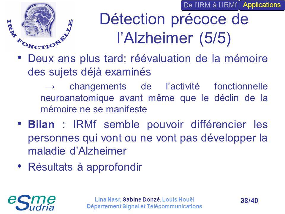 Détection précoce de l'Alzheimer (5/5)