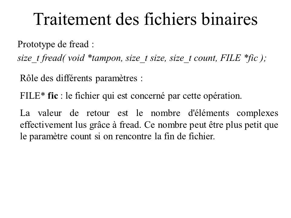 Traitement des fichiers binaires