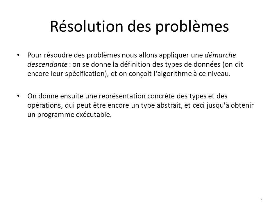 Résolution des problèmes