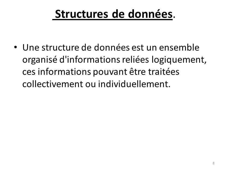 Structures de données.