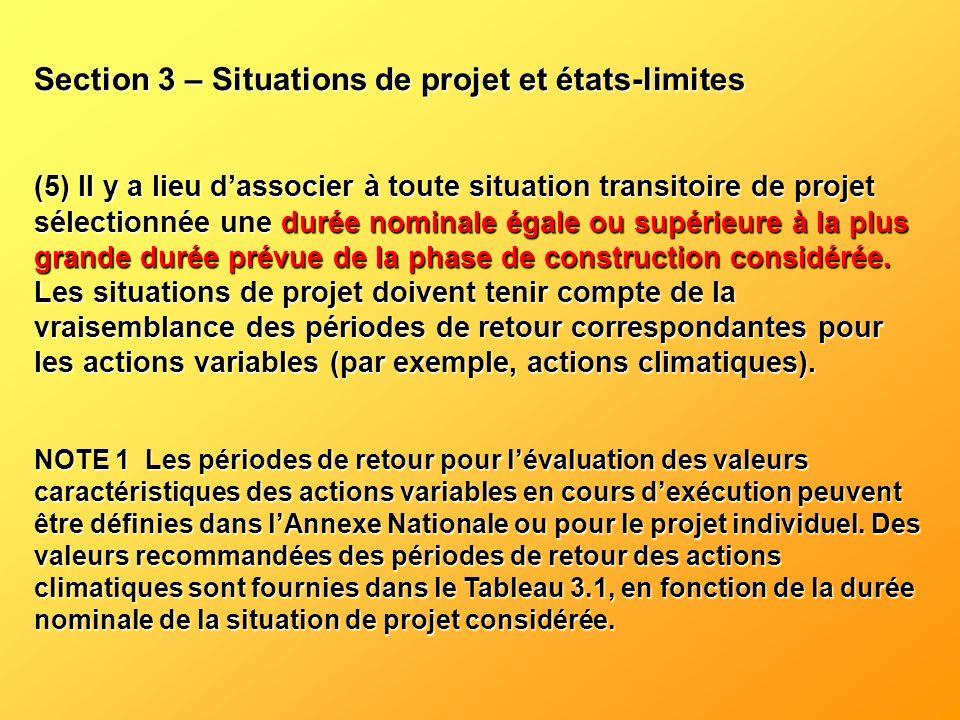 Section 3 – Situations de projet et états-limites