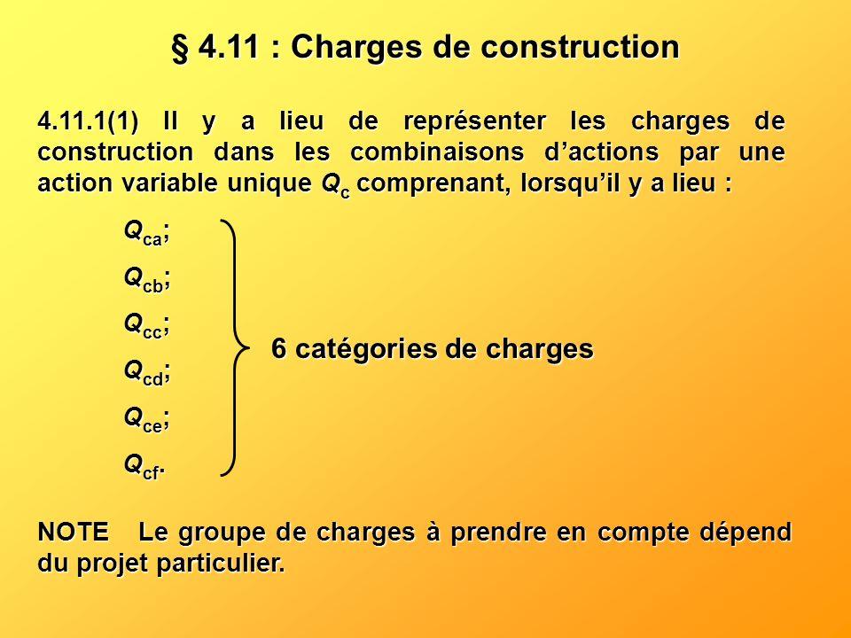 § 4.11 : Charges de construction