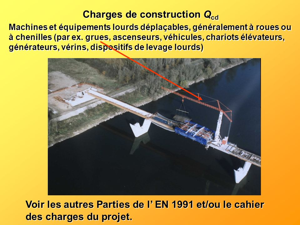 Charges de construction Qcd
