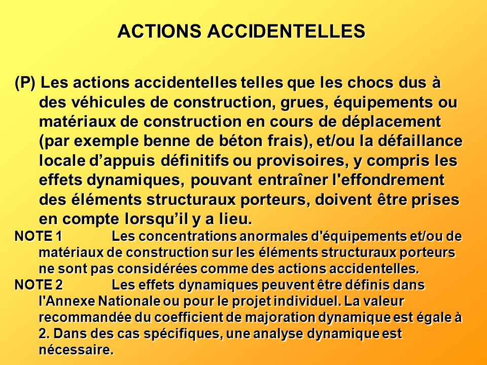 ACTIONS ACCIDENTELLES