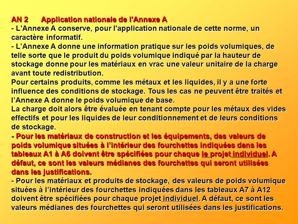 AN 2 Application nationale de l Annexe A