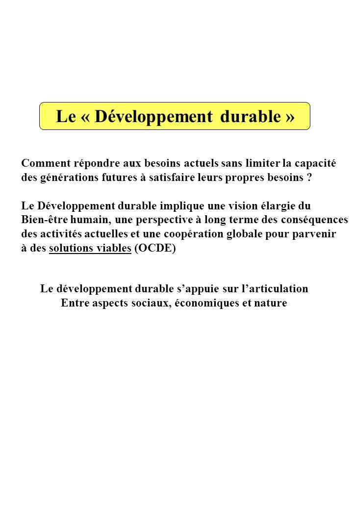 Le « Développement durable »