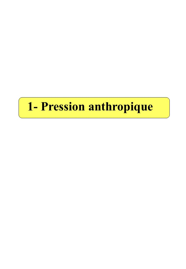 1- Pression anthropique