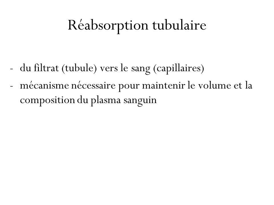 Réabsorption tubulaire