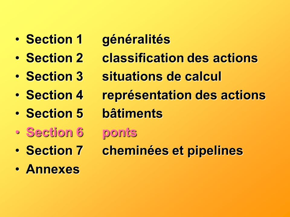 Section 1 généralités Section 2 classification des actions. Section 3 situations de calcul. Section 4 représentation des actions.