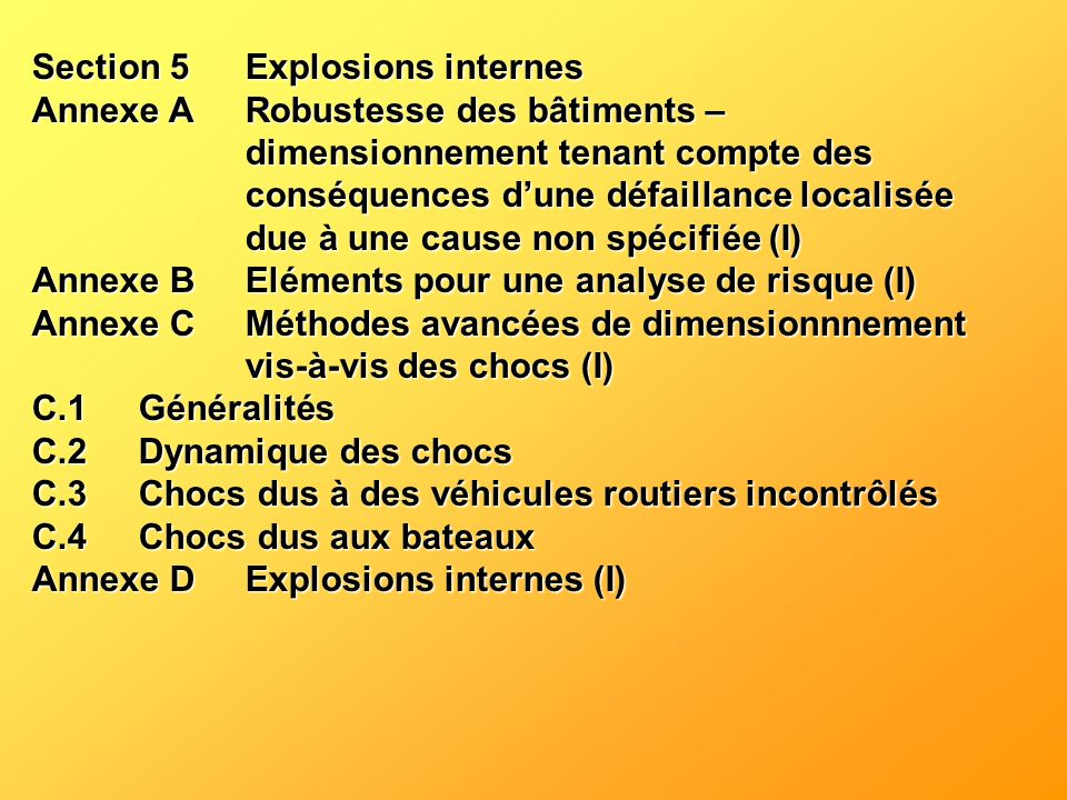 Section 5 Explosions internes