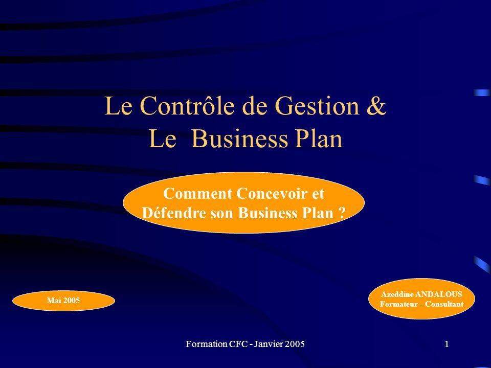 Le Contrôle de Gestion & Le Business Plan