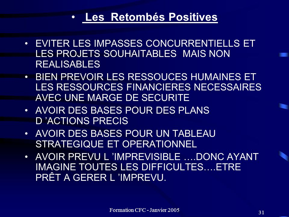 Les Retombés Positives