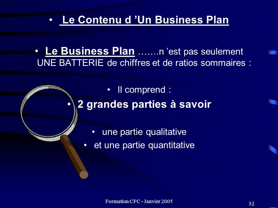 Le Contenu d 'Un Business Plan