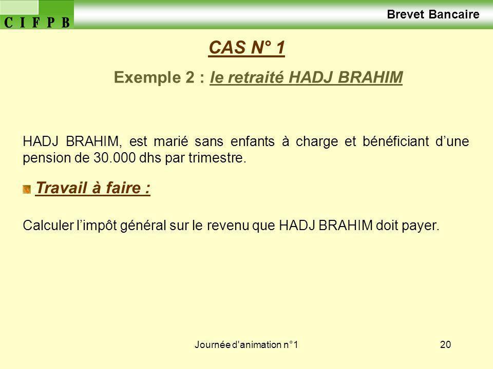 Exemple 2 : le retraité HADJ BRAHIM