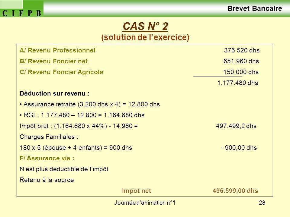 CAS N° 2 (solution de l'exercice)